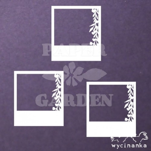 BE MY VALENTINE - rámečky s girlandami 3 ks
