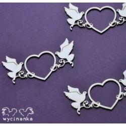 Beautiful Wedding - Srdíčka s holubičkou