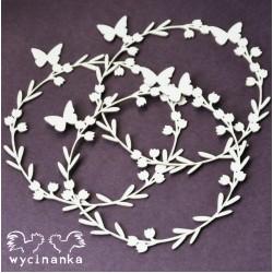 Věnec s motýlky