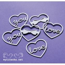 LOVE LETTER - Srdíčka 6 ks
