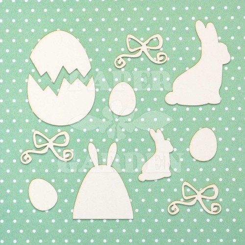 VESELÉ VELIKONOCE - Bunny - Egg set 10 ks