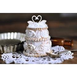 Svatební dort s labutěmi 3D