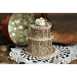 Svatební dort krajkový 3D