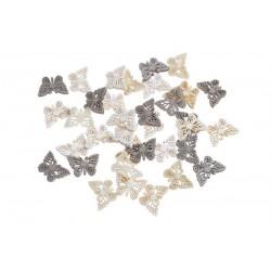 Dřevění motýlci - mix přírodní 36 ks