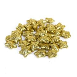Glitrované hvězdičky - zlatá 30 ks
