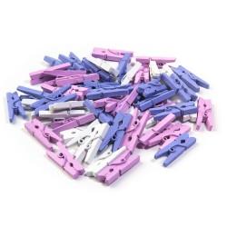 Mix fialová / lila - 60 ks