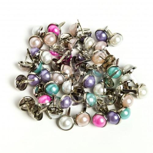 Mix pastelových perliček - střední - 50 ks