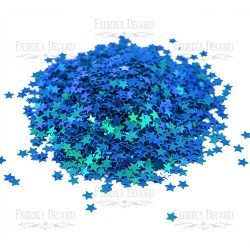 Hvězdičky MINI - Modré s AB efektem