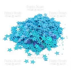 Hvězdičky - Baby modré s AB efektem