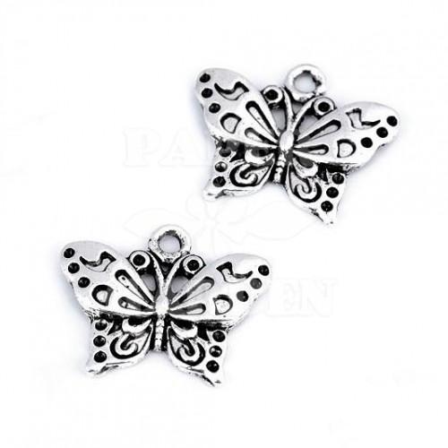 Motýlek 2 ks (platina)