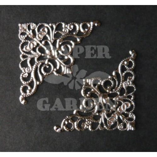 Fligránové růžky - stříbrné 10 ks