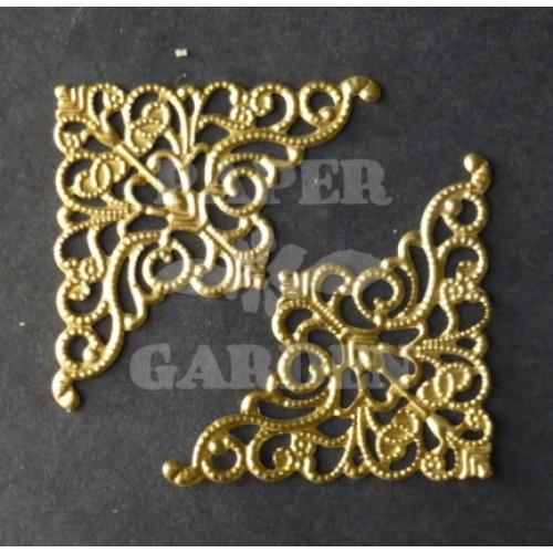 Fligránové růžky - zlaté 10 ks