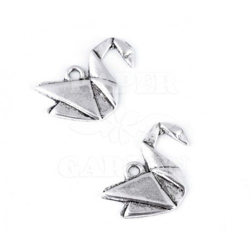 Origami labuť 2 ks (platina)