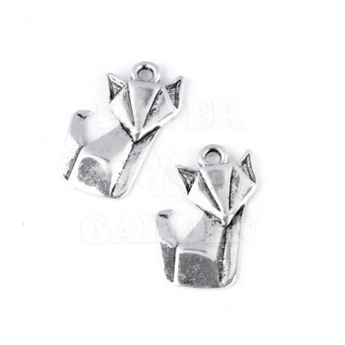 Origami liška 2 ks (platina)