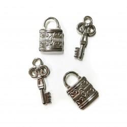 Klíč a zámek 4 ks