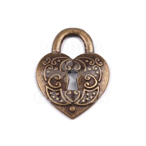 Zámek srdce 1 ks (staromosaz)