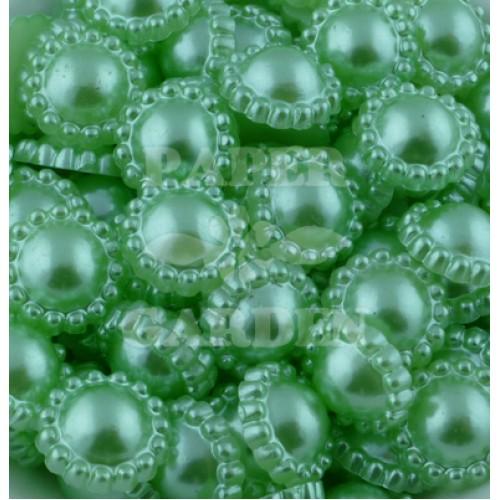 FLAT BACK PEARLS - kytičky zelené 50 ks