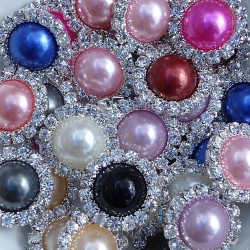 FLAT BACK PEARLS - diamantové 10 ks