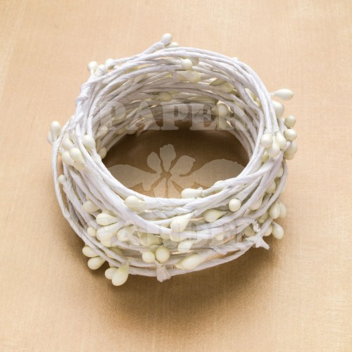 Bílý s perličkami 5 m