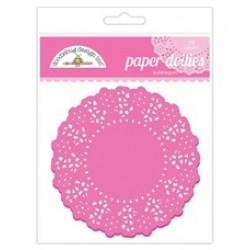 Papírová krajka - Sytě růžová - 75 ks
