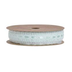 Saténová s krajkou - Mint pastelová 10 m