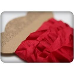 Shabby chic stuha - červená / bordó