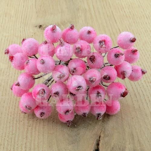 Růžové frosted 20 ks