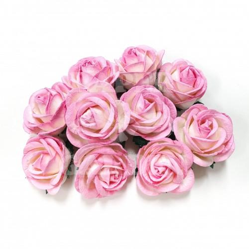 Baby růžová / Bílá - 5 ks