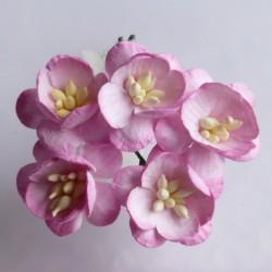 Baby růžová - žíhané - 10 ks