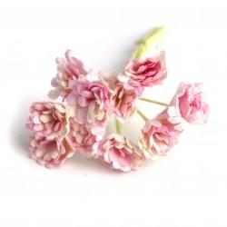 Baby růžová / Bílá  - 10 ks