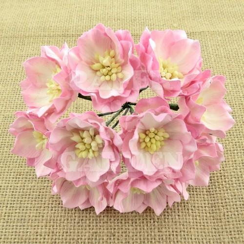 Růžová žíhaná 5 ks