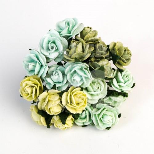 Mix Zelená (15 mm) - 50 ks