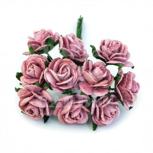 Podzimní růžová (15 mm) - 10 ks
