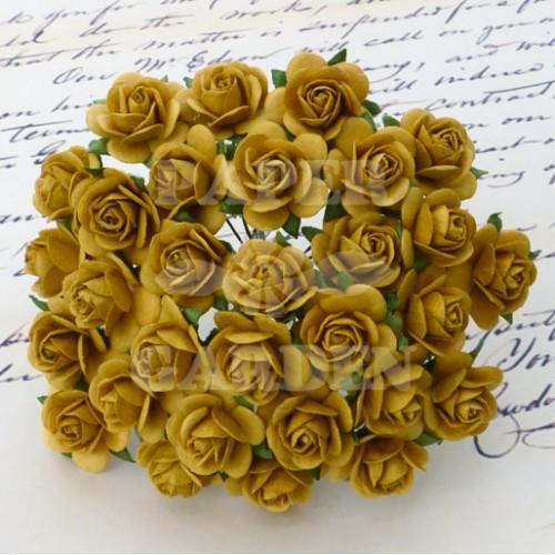 Tmavě zlatá (10 mm) - 10 ks
