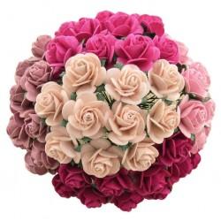 Mix Růžová (15 mm) - 50 ks