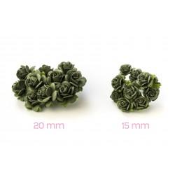 Olivová zelená (15 mm) - 10 ks