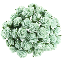 Pastelově zelená (15 mm) - 10 ks