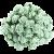 Pastelově zelená (25 mm) - 5 ks