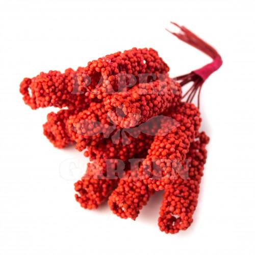 Červená spirála 12 ks