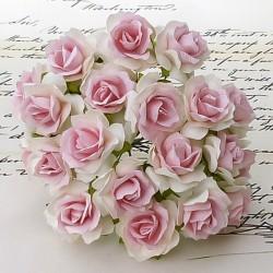 Bílá / Baby Růžová - 5 ks