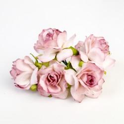 Tmavě růžová žíhaná - 5 ks