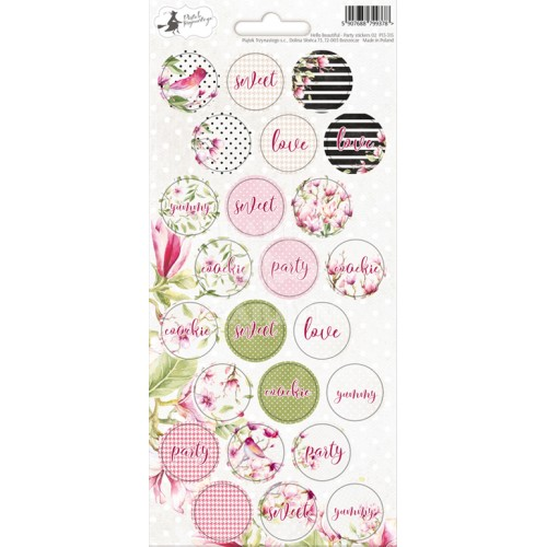 Hello Beautiful - Party Stickers - 02