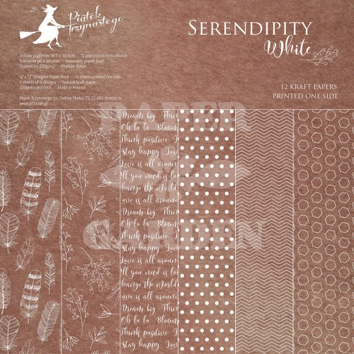 Serendipity White - 12 x 12