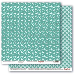 Elegantly Festive - Reindeer True Teal