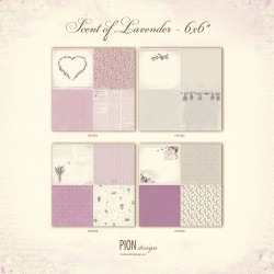 SCENT OF LAVENDER - 6 x 6 - The song of a bird