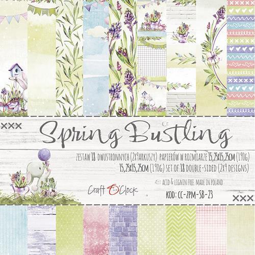 SPRING BUSTLING - 6 x 6