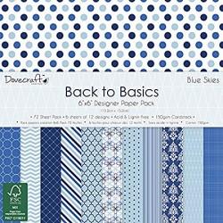 Back To Basics - Blue Skies - 6 x 6 - 1x každý design
