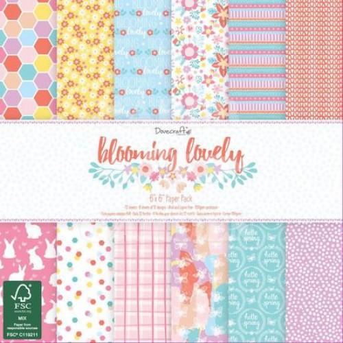 Blooming Lovely - 6 x 6 - 1x každý design
