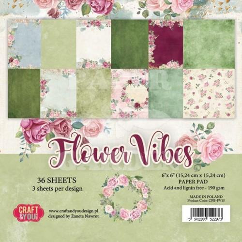 Flower Vibes - 6 x 6