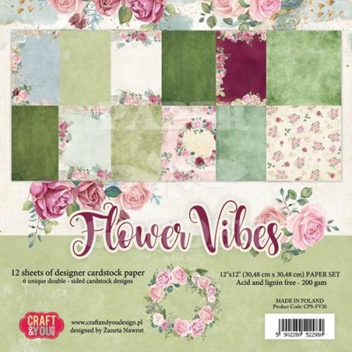 Flower Vibes - 12 x 12